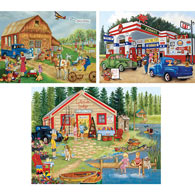 Set of 3: Kay Lamb Shannon 500 Piece Summer Jigsaw Puzzles