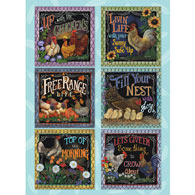 Roosters On The Farm Quilt 500 Piece Jigsaw Puzzle