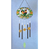 Rooster Glass Wind Chimes