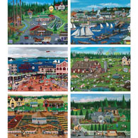 Set of 6: Cindy Mangutz 300 Large Piece Puzzles