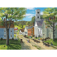 After Church 500 Piece Jigsaw Puzzle