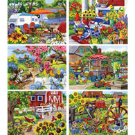 Set of 6: Nancy Wernersbach 300 Large Piece Jigsaw Puzzles