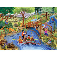 Rafting Adventure 300 Large Piece Jigsaw Puzzle