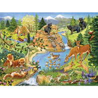 Forest Critters 500 Piece Jigsaw Puzzle