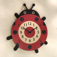 Ladybug Moving Wall Clock