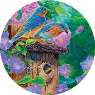 Family Time 500 Piece Round Jigsaw Puzzle