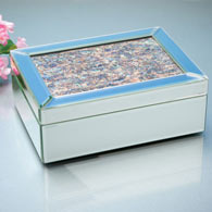 Abalone Mirrored Jewelry Box
