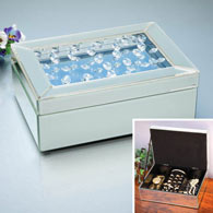Crystal Mirrored Jewelry Box