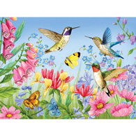 Hummingbirds And Butterflies 500 Piece Jigsaw Puzzle