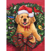 Christmas Puppy 500 Piece Jigsaw Puzzle