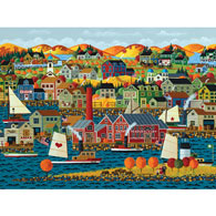Fall On The Coast 500 Piece Jigsaw Puzzle