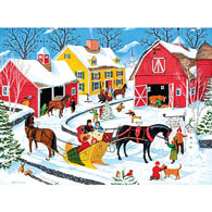 Cozy Curve Farm 300 Large Piece Jigsaw Puzzle