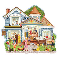 Lulu's Veterinary House 750 Piece Shaped Jigsaw Puzzle