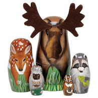 Woodland Creatures Animal Nesting Doll Set