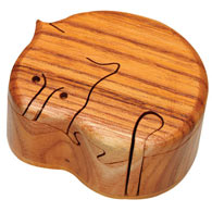 Wooden Cat Puzzle Box