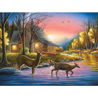 River's Crossing 500 Piece Jigsaw Puzzle