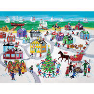 Christmas By The Sea 500 Piece Jigsaw Puzzle