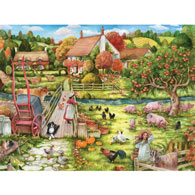 Feeding Time At The Farm 300 Large Piece Jigsaw Puzzle