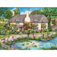 Cottage By The River 1000 Piece Jigsaw Puzzle