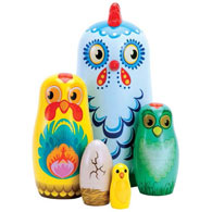 Hazel & Friends Chicken Nesting Dolls