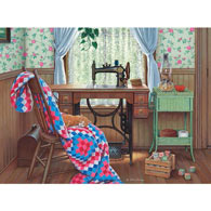 Sewing Corner 300 Large Piece Jigsaw Puzzle