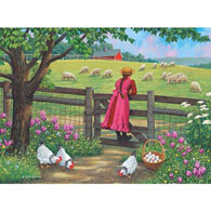 Wool Gathering 300 Large Piece Jigsaw Puzzle