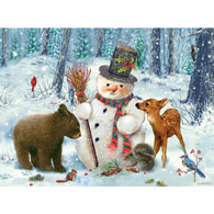 Snowman Gethering 1000 Piece Jigsaw Puzzle