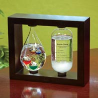 Galileo Thermometer & Fitzroy Barometer Glass Weather Instrument