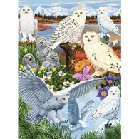 Snowy Owl Sanctuary 300 Large Piece Jigsaw Puzzle