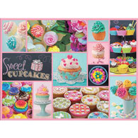 Cupcakes 1500 Piece Collage Jigsaw Puzzle