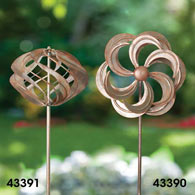 Mini Wind Spinner Garden Stakes - One Orb