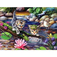 On A Fishing Mission 300 Large Piece Jigsaw Puzzle