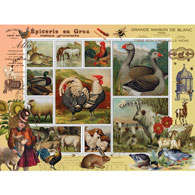 Farm Life 500 Piece Stamp Jigsaw Puzzle