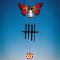 Solar Monarch Butterfly Chimes
