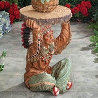 Native American Chief Garden Accent Table