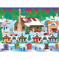 Winter At Old Log Lodge 300 Large Piece Jigsaw Puzzle