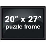 "20"" X 27"" Custom Black Metal Channel Frame"