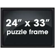 "24"" X 33"" Custom Black Metal Channel Frame"