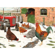 Winter Hens 500 Piece Jigsaw Puzzle