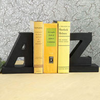 Elegant A to Z Bookends