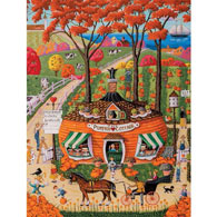 Pumpkin Cottage 300 Large Piece Jigsaw Puzzle