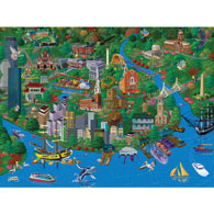 Boston 300 Large Piece Jigsaw Puzzle