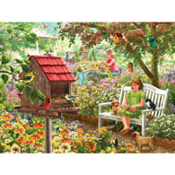Summer Garden Bird Feeder 500 Piece Jigsaw Puzzle