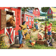 Morning Chores 500 Piece Jigsaw Puzzle
