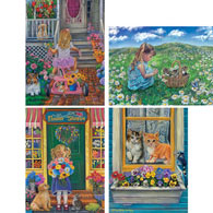 Set of 4: Tricia Reilly-Matthews 1000 Piece Jigsaw Puzzles