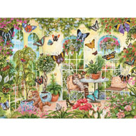 Playing In The Butterfly House 1000 Piece Jigsaw Puzzle