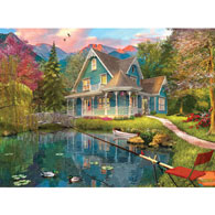 The Fishing Retreat 500 Piece Jigsaw Puzzle