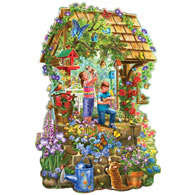 Wishing Well 300 Large Piece Shaped Jigsaw Puzzle