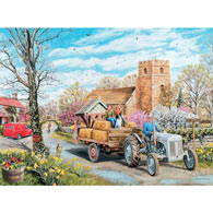 A Spring Village 300 Large Piece Jigsaw Puzzle