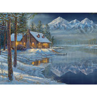 Shoreline Mountain 1000 Piece Jigsaw Puzzle